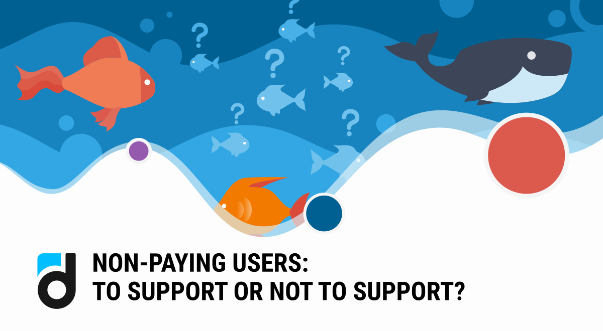 Non-paying users: to support or not to support?
