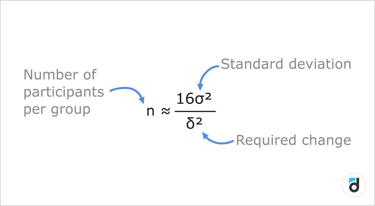Statistical significance formula