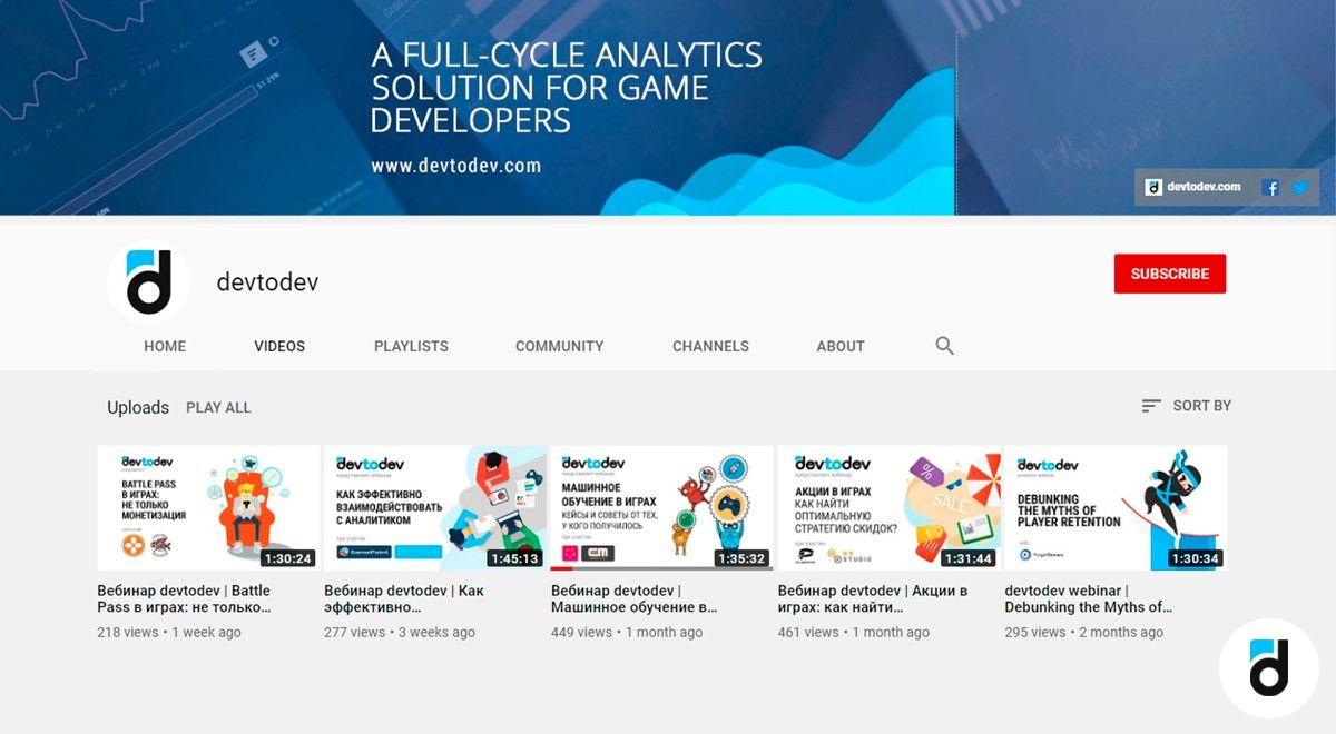 Devtodev_youtube_channel_analytics