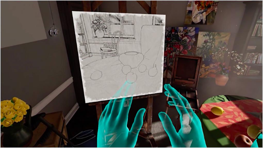 VR hands interior