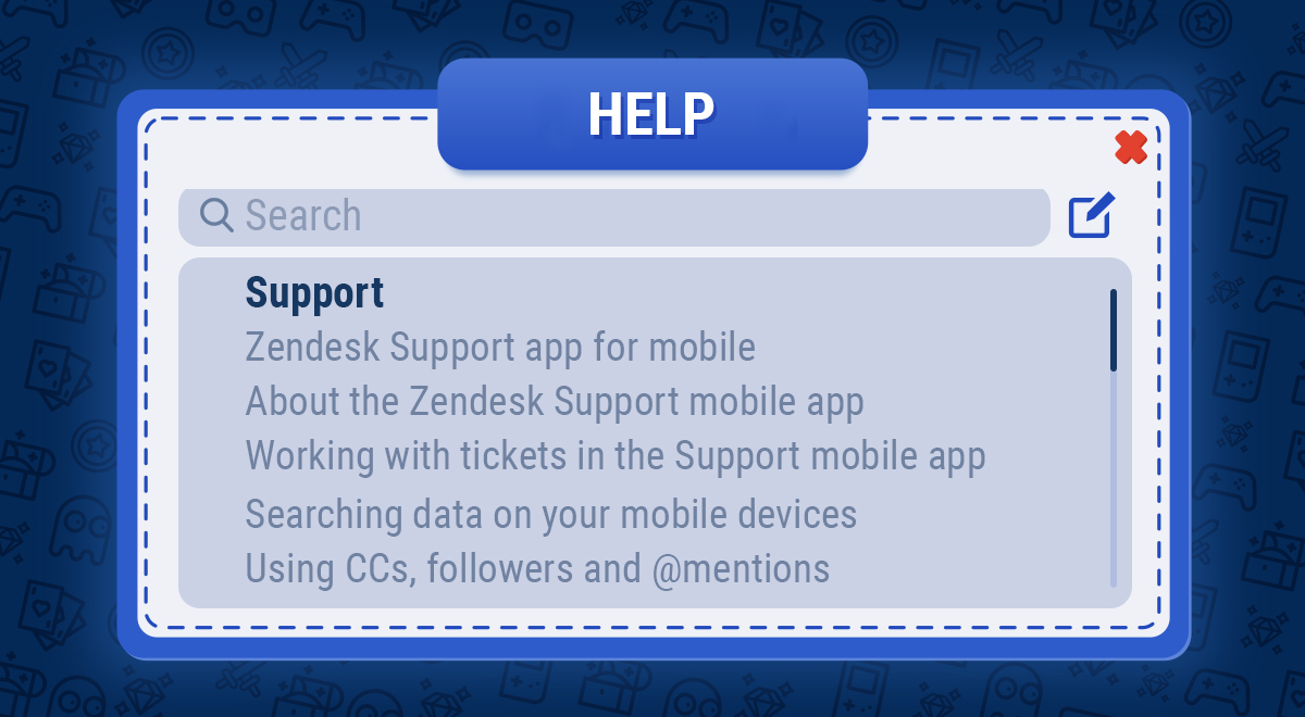 Game support zendesk