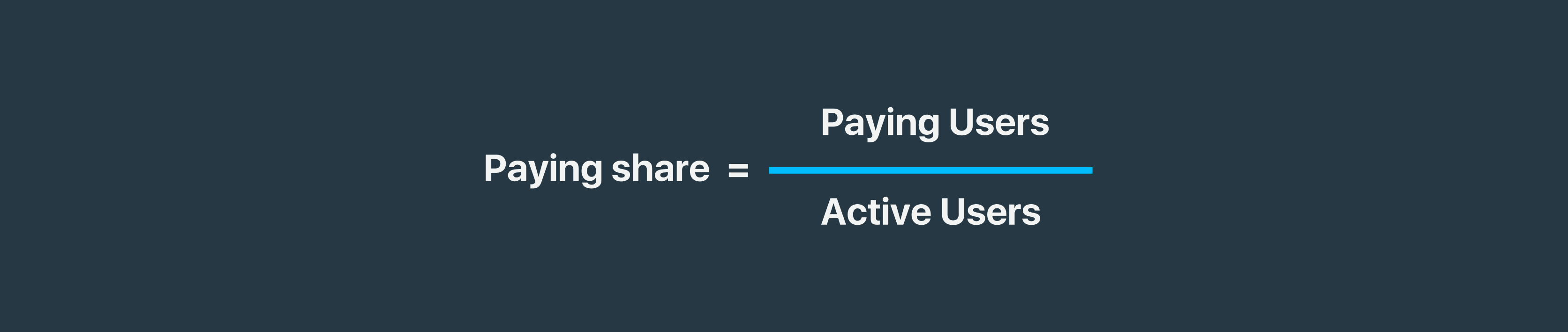 Paying share formula