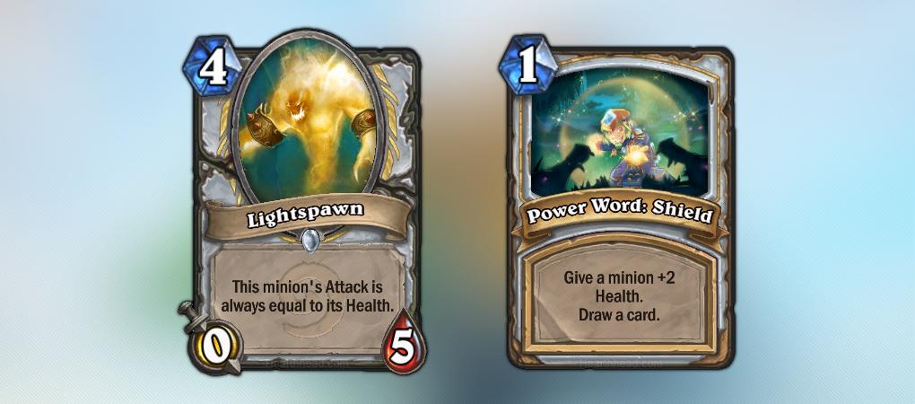 Lightspawn и Power Word: Shield – две классические карты Священника (Priest) из Hearthstone.