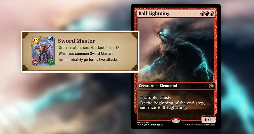 Sword Master выполняет две атаки сразу после входа в игру