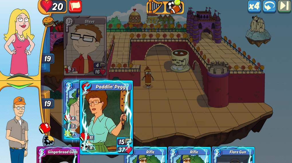 В Animation Throwdown. карты можно комбинировать друг с другом прямо на поле боя, получая более сильные карты