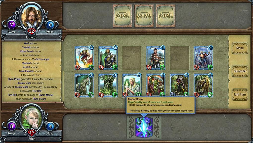 """Astral Heroes отличается полным отсутствием """"ненужных"""" карт: буквально каждая карта может играть в какой-нибудь колоде."""