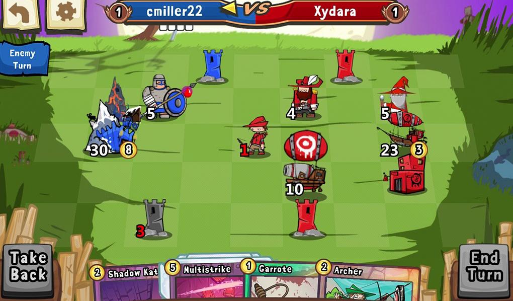 Несмотря на внешнюю несерьезность, в Cards and Castles приходится думать на несколько ходов вперед