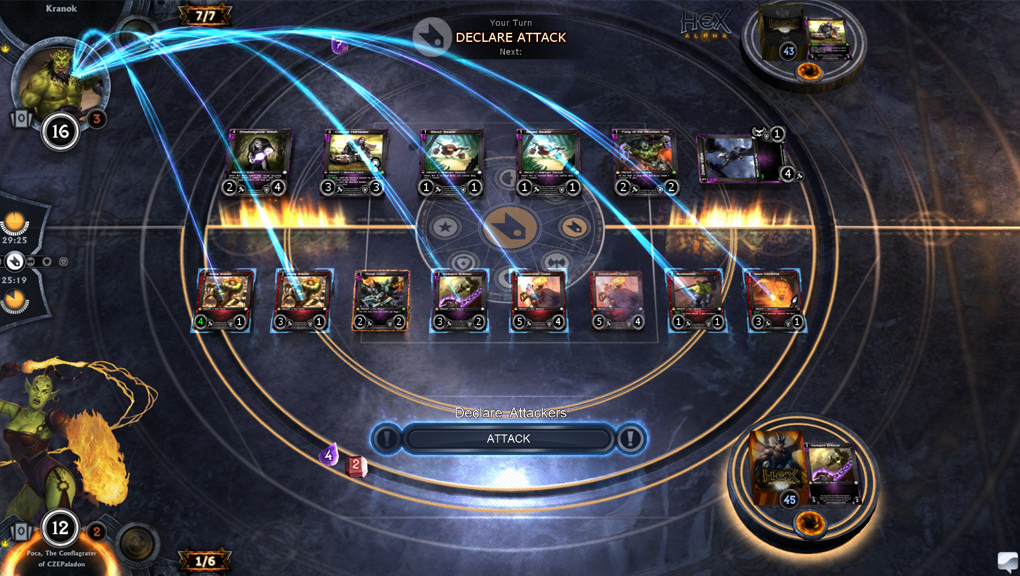 Одним из примеров явно неудачных игр с блокированием является HeX: Shards of Fate