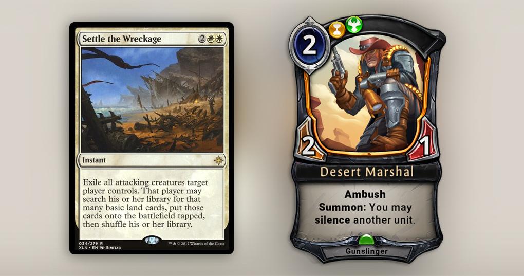 Классическая карта с Silence – это Desert Marshal, которого можно сыграть в любой момент
