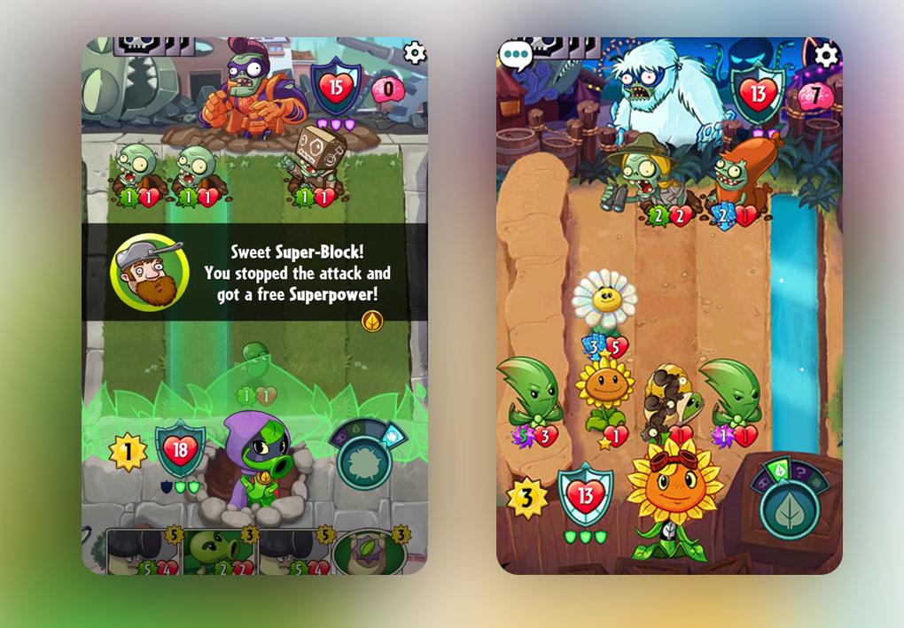 """В Plants & Zombies Heroes у каждого героя есть """"супер-блокметр"""", который накапливается каждый раз, когда герой получает повреждения."""