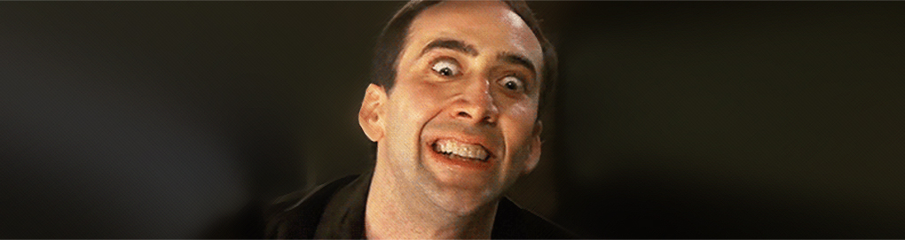 Nicolas Cage tries to get used to the idea that correlation does not imply a causal relationship.