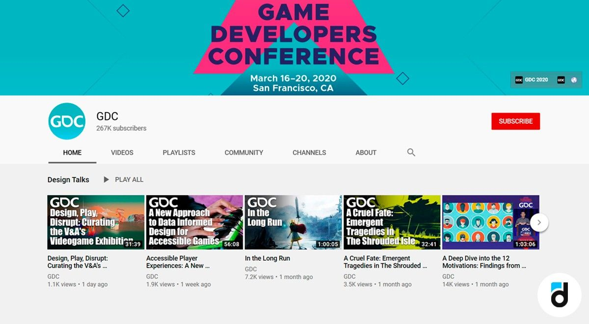 GDC youtbe game design channel